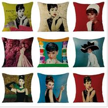 Manufacturers Selling New Arrival Wonder Woman Throw Pillow Audrey Hepburn Poster Cushion For Home Decor Gifts(China)