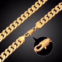 Buy Fashion Link Chain Bangle Bracelet Men Punk Hip Hop Stainless Steel Gold Silver Plated Bracelet Chains Femme Jewelry Shellhard for $1.25 in AliExpress store
