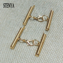 STENYA Multylayers Necklace Connector Lobster Swivel Clasp Pinch Bails Tube Spacer Charms Ropes Crimps End Threaded Snap Jewelry(China)