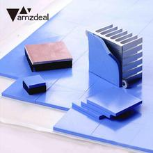 AMZDEAL Durable CPU Heatsink Two Color Thermal Pad Silicone Conductive Heatsink Cooling Cooler GPU CPU Pad Fin