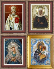 Religion Icon of Leader Diamond Embroidery Diamond Mosaic Russia Human Virgin and Child Round Rhinestones Diamond Painting