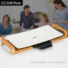 82502  Indoor effective high-power Electric Hotplate with ceramic paintcoat BBQ Grill electric oven smokeless  barbecue furnace