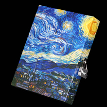 Fashion Vintage Diary with Lock Password Notepad Boxed Notebook and Journal Diary Lockbutton Hardcover Note Book Van Gogh