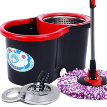 150202/Net state double drive rotary mop bucket rotary mop household hand pressure drying/no hand wash lazy mop/(China)