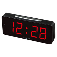 Big Numbers Electronic Desktop Clock Digital LED Alarm Clock AC Power Table Clocks with 1.8 Large Display Home Decor Led(China)