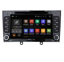 Glossy Black Piano 2din Android 7.1 Car DVD GPS For Peugeot 408 308 308SW with Wifi 3G BT Radio Stereo USB SD Free latest map