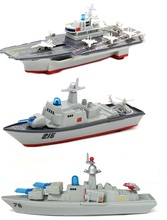 Alloy aircraft carrier ship model warship destroyer force back sound and light alloy model toy boat(China)