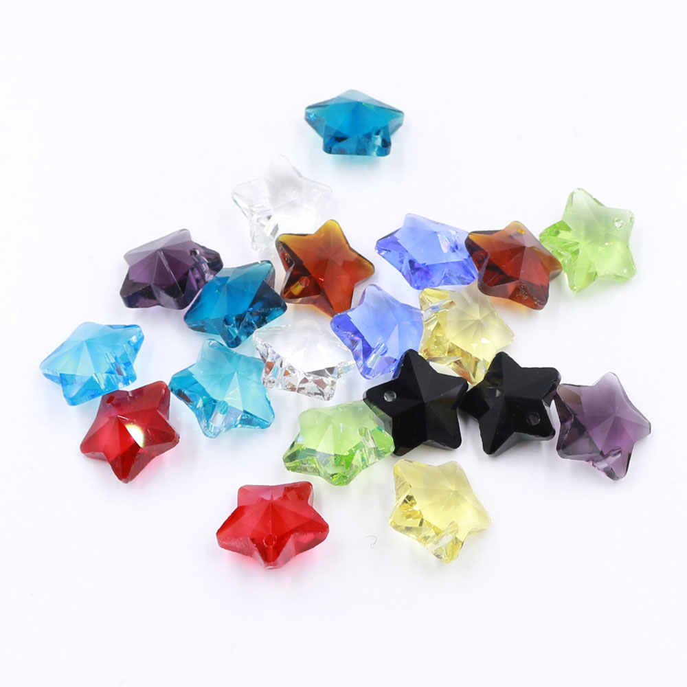 5pcs 25mm Oblate Rondelle Charms Lampwork Glass Loose Craft Pendant Beads Retro