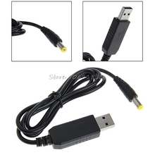 DC-DC USB 9V/12V DC Jack 5.5MMx2.1MM Power Module Step-up Converter Cable Cord -R179 Drop Shipping