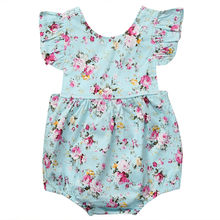 Buy 2017 Floral Newborn Baby Girl Romper Ruffles Sleeve Infant Bebes Princess Girls Jumpsuit Outfits Sunsuit Children Clothes for $4.13 in AliExpress store
