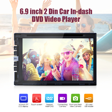 6.9'' TFT LCD Touch Screen Car Stereo DVD Player 2 Din BluetoothV3.0 SD USB FM Radio Audio Video Player Recorder MP3/MP4/WMA