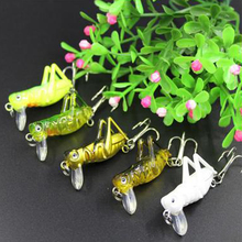 1Pcs 4cm Grasshopper Fishing Fake Lure Bait Artificial Bait Insects Fishing Lures Sea Fishing Tackle Flying Wobbler