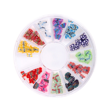 Butterfly Pattern Fimo Nail Art Stickers Multicolor Many Styles Wheel Charms For Nails Supplies DIY Crafts Phone Case Scrapbook