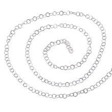 LASPERAL 2M Stainless Steel Curb Cross Chain Necklace Chain For Men Women Silver Tone 4mm Jewelry Making Supplies Components