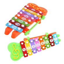8 Notes Cartoon Animal Knock On Piano Instrument Baby Kids Wooden Toy Toddler Learning Educational Musical Toy Gift