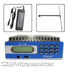 CZE-15B FU-15B 0W-15W PREMIUM Professional PC Control FM Transmitter +power supply+ dipole antenna