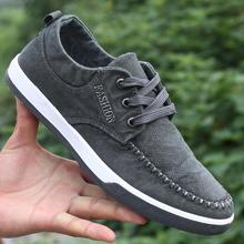 2017 New Canvas Denim Shoes Men Breathable Non-leather Casual Shoes Jeans Men Footwear Canvas Lace Up Mens Shoes Tenis Krasovki