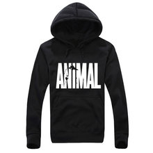animal Printing Men Hoodie Black Hooded Sweatshirt Male Printed Clothing Hoodies and Sweatshirts Winter The Flash animal(China)