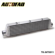 "AUTOFAB -Universal Turbo Intercooler 550x140x65mm Front Mount For Honda Civic Integra Saab 2.5"" Inlet & Oule AF-INT0011"