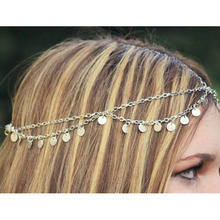3PCS Bohemian Multi Layer HeadChain Hairwear Women Girl Party Wedding Hairbands Tassel Hair accesories Fashion Jewelry Wholesale(China)