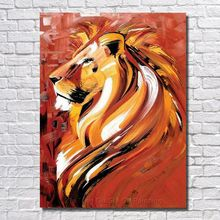 Handmade Oil Paintings Abstract Painting on The Canvas Abstraction Animals Lion Painting The Sitting Room is Free Shipping
