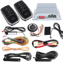 PKE car alarm system with push button start remote engine star stop auto passive keyless entry kit touch password keypad(China)
