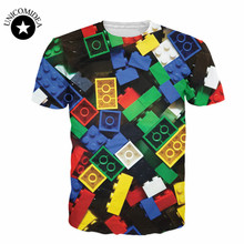 2017 Newest Lego Bricks T-Shirt super popular children  toy 3d printed t shirt harajuku funny t shirt  casual tee tops camisetas