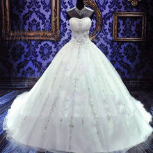 Buy New Year Luxury Beaded Wedding Dresses Crystals Ball Gown Bridal Dress China Vestido de Noiva Princesa Church Wedding Gowns Boda for $194.40 in AliExpress store