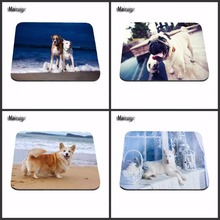 Customized Mouse Pad Funny Cute Dog Computer Notebook Rectangle Rubber Mouse Mat Pad Choose Of Three Sizes 29*25cm And 22*18cm(China)