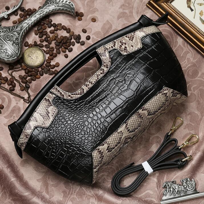 2017 Crocodile 100% Genuine Leather Bags Designer Handbags Quality Tote Bag for Women Fashion Hobos Bolsos purse evening bags<br>