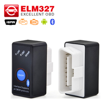 Super ELM327 V2.1 Bluetooth Power Switch OBD 16Pin 12V Car Code Reader mini ELM 327 ON Android /PC OBDII OBD2 Diagnostic tool(China)