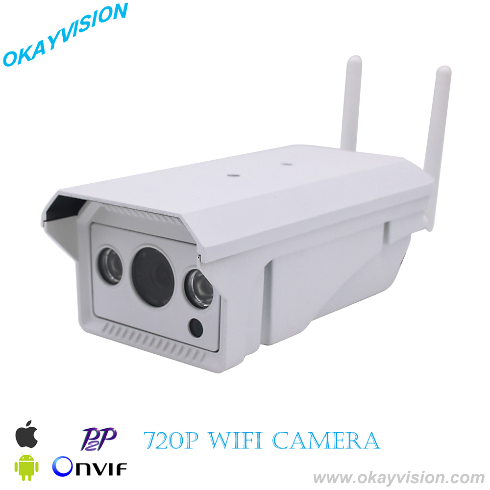 WIFI 1280x720P 1.0MP IP Camera Waterproof 2PCS IR led array Night Vision Outdoor Security Camera ONVIF P2P CCTV Cam with IR-Cut<br>