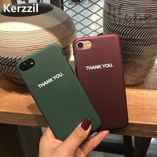 Kerzzil English Thank You Letter PC Hard Case For iPhone 7 6 6S Plus 5s SE Phone Plastic Scrub Cover Back For iPhone 6 7 6S 5(China)