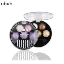 UBUB Professional 6 Colors Eye Shadow Palette Makeup Beauty Cosmetics Make Up Metallic Pigment Glitter Eyeshadow For Full Eyes(China)