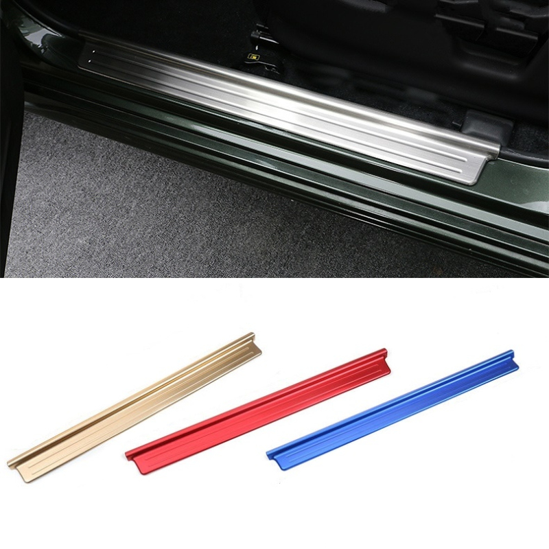 Suitable for Suzuki Jimny  2007-2015 Aluminum Alloy Scuff Plate Door Sill Cover Car Styling Accessories<br>
