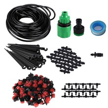 25m Micro-sprinklers Spray Water Cooling Moisturizer Water Irrigation Automatic watering Kit Set Drip Irrigation Garden Watering(China)
