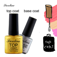 Saroline UV Top Coa Base Coat Foundation for UV Gel Gel Polish Top soak off 20 day long lasting Nail Gel cheap gel