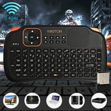 Original Viboton S1 English Russian 3-in-1 2.4GHz Wireless Keyboard + Air Mouse + Remote Control with Touchpad for Windows Linux(China)