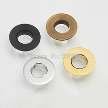 2PCS bathroom sink bathtub brass overflow cover decorate late silver antique golden black color optional JF1230(China)