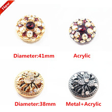 1 pcs,38-41mm mix  fashion metal acrylic Fur buttons, Mink coat buttons. Rhinestone buttons. big with a diamond buckle.accessory