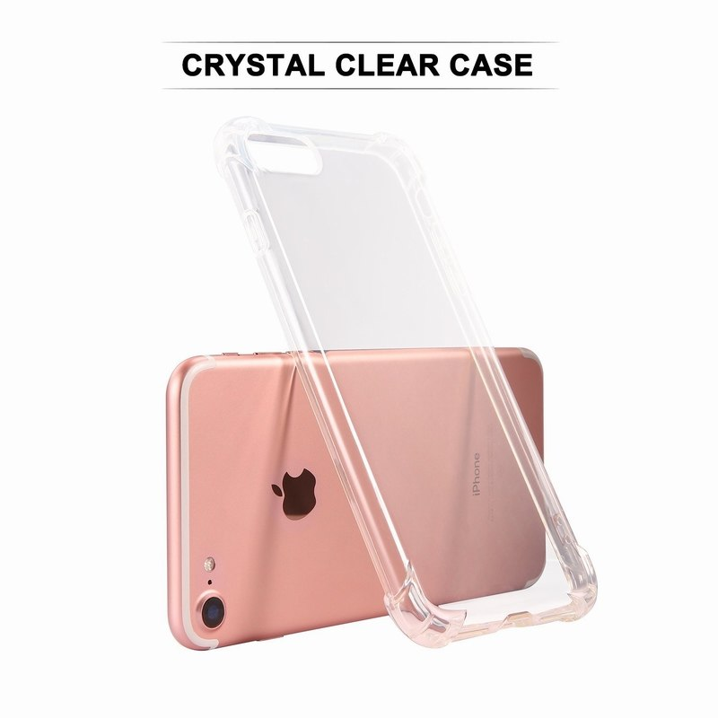 Ascromy For iPhone 7 Case Crystal Clear Shockproof Cover Transparent Soft TPU Cases for Apple iPhone 8 Plus X 6 6S 5 5S SE Coque (5)
