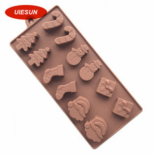 12 grid Christmas Xmas mold silicone chocolate mould confeitaria fondant mold silicone soap mold baking mold decoration UIE278