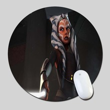 Ahsoka Tano 2016 Round Gaming Mouse Mats Mice Pad for Size 200*200*2mm