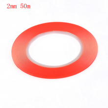 New 2mm 50m Double Side Adhesive Sticker Tape For iPhone Samsung LG Sony HTC Cell Phone Touch Screen Repair VI459 P16 0.4