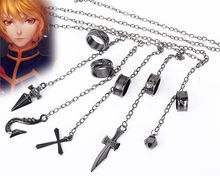 High QUALITY Cartoon Hunter x Hunter Kurapika five darts A finger ring Chain Weapon Accessories Cosplay Ring Hand chian