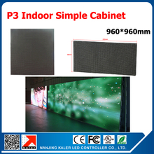TEEHO HOT SELL!!! P3 Iron led display cabinet indoor smd rgb p3 led panel led display cabinet size 960mm*960mm(China)