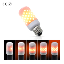 E26 LED Flame Lamp Candle Bulb E27 AC85-265V 63leds 220V Corn Bulb Christmas Decoration Flashing Holiday Lights led 110V 2835SMD(China)