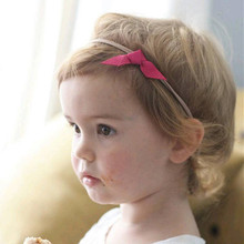 Cute newborn Bow Knot Headbands PU leather bow tied with soft nylon headwear  hair accessories for photo props  3pcs/lot