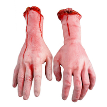 Vivid Human Arm Hand Bloody Dead Body Parts Haunted House Halloween Stage Props