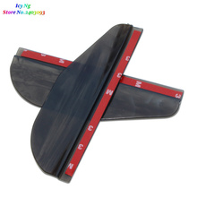 1Pair Car Styling Rearview Mirror Rain Eyebrow Shield Cover For Ford Focus Fusion Kuga Ecosport Fiesta Mondeo Falcon EDGE EVOS